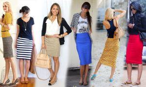 Ботинки без каблука с юбкой карандаш: как сочетать и с чем носить