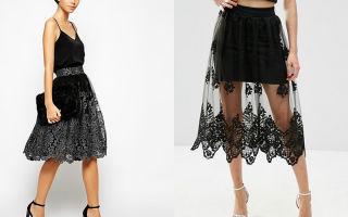 С чем носить юбку кружевную: интересные идеи