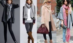 Модные шарфы 2017 — фото актуальных моделей