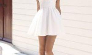 С чем носить белое платье летом и выглядеть женственно и привлекательно