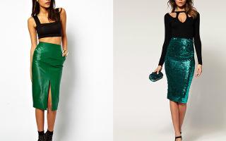 Зеленая юбка карандаш: с чем носить и по каким случаям?