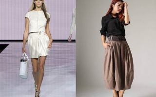 С чем носить юбку баллон?