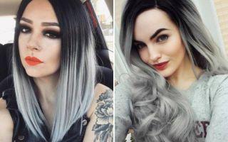 Как сделать пепельно-черный цвет волос?