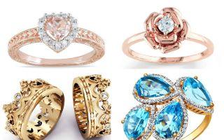 Кольца золотые – женские радости и признак роскоши
