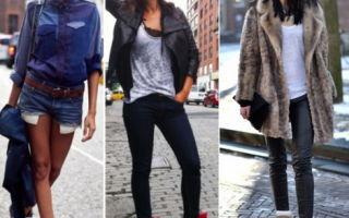 С чем носить сникерсы на танкетке: стильные сочетания