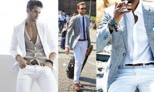 С чем носить мужские белые брюки – деловой и повседневный образ