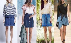 Джинсовые юбки 2017 года: модные тенденции, фото-примеры изящных луков