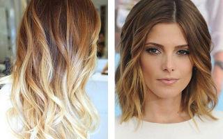 Как делается колорирование на русые волосы?
