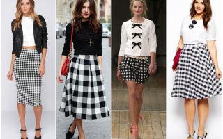 С чем носить юбку в клетку: советы мировых стилистов
