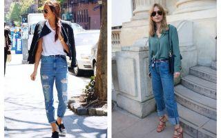 Подвернутые джинсы: с чем носить, фото стильных решений