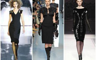 Черное платье – с чем носить и сочетать?