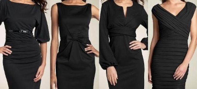 С чем носить черное платье – выбор наиболее модных аксессуаров