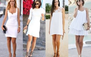 Белое платье – с чем носить и сочетать?