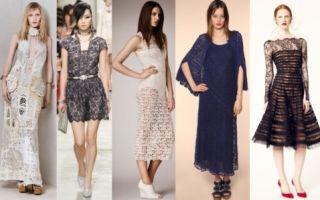 С чем носить платья из кружева