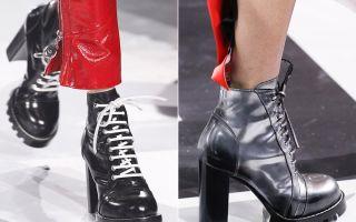Какие ботинки будут в моде осенью 2018?