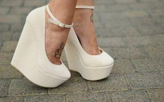 С чем носить туфли на платформе – как выбрать модель и цвет?