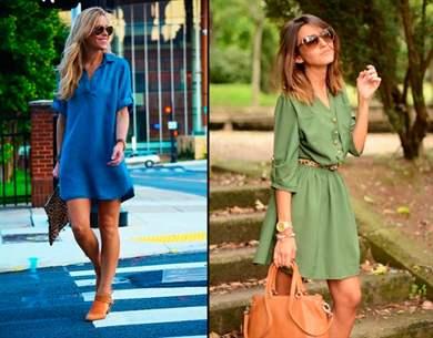 Платье рубаха с чем носить