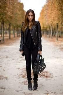 стильные кожаные куртки женские фото
