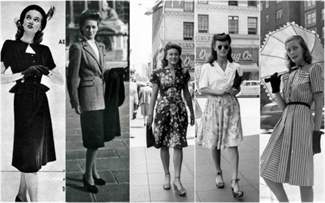 Юбка 40-х годов