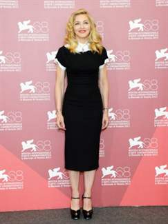 "Director/writer Madonna attends the ""W.E."" Photocall during the 68th Venice International Film Festival at Palazzo del Casino on September 1, 2011 in Venice, Italy."
