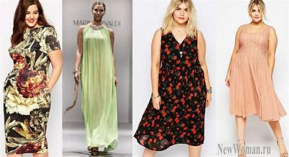 Женская одежда для полных сарафаны платья