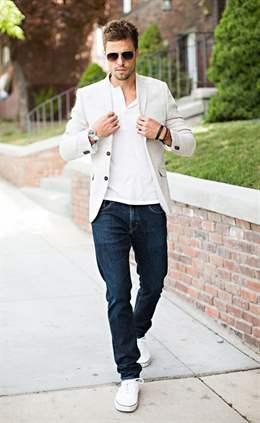 С чем носить белый мужской пиджак
