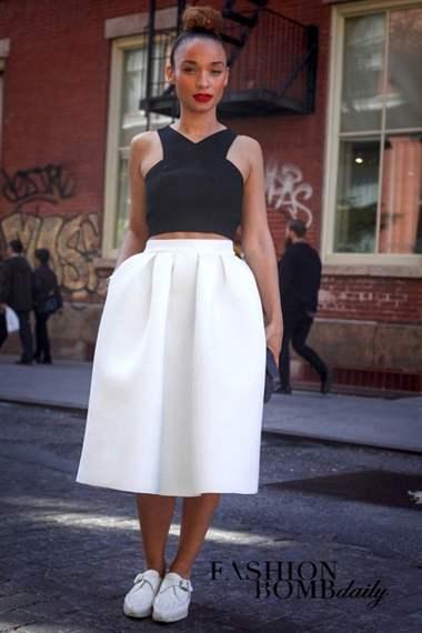 Пышная юбка и топ комплект