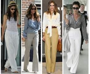 Широкие льняные брюки женские