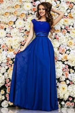 Под синее платье в пол