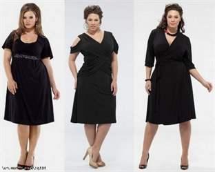 Классическое платье для полной женщины