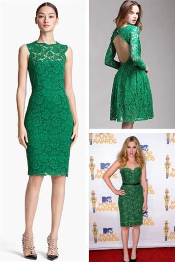Платья зеленое гипюровое платье