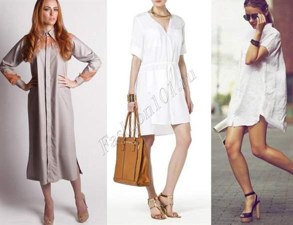 Платье свободного кроя с чем носить
