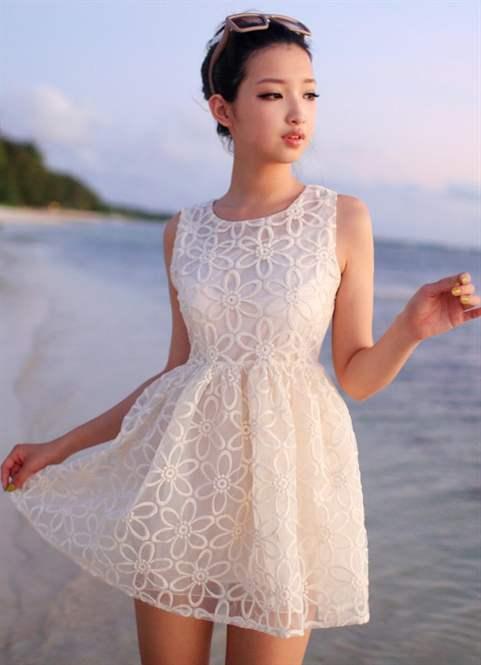 Короткое белое платье летнее