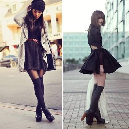 Гольфы с платьем