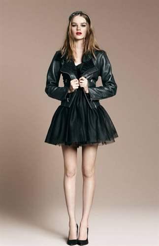 Кожаная куртка юбка пачка