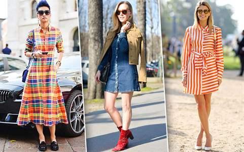 С чем носить платье модных образов