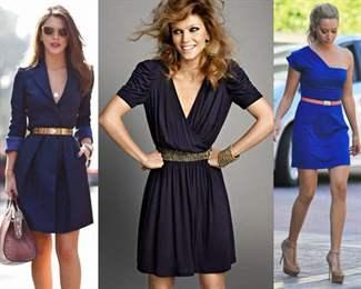 С чем одеть кружевное  синее