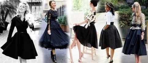 Бархатная чёрная юбка с чем носить