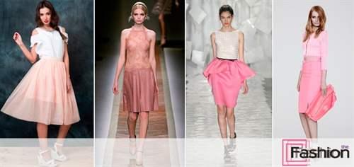 Какую блузку одеть с розовой юбкой