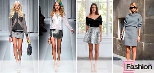 089400e10ab С чем носить серую юбку 50 модных образов (фото) – Блог о рукоделии ...