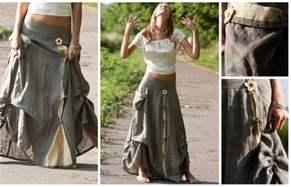 Карго юбка купить