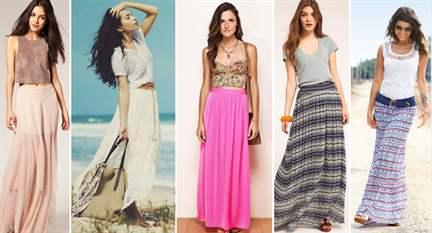 Длинная легкая юбка на лето