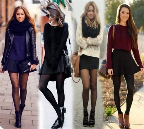 Обтягивающая черная юбка с чем носить