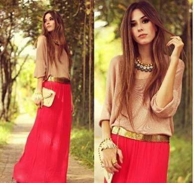 Купить блузку к красной юбке