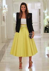 Пышная юбка по колено с топом