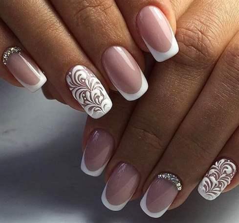 Дизайн ногтей френч весна 2017