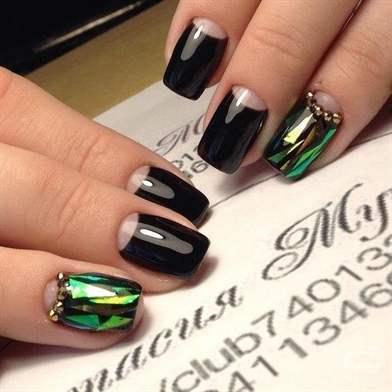 Фото ногти битое стекло дизайн 2017