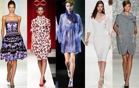 Весенние фасоны платьев