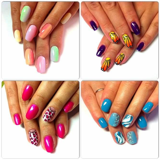 Коралловый цвет ногтей дизайн ногтей