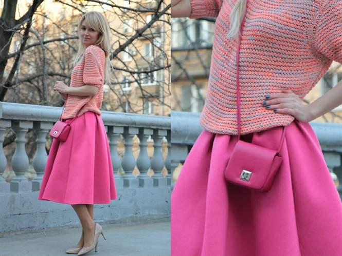 Под что носить розовую юбку